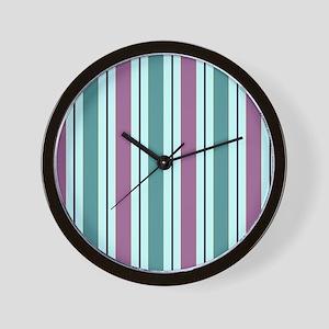 STRIPES ON MINT Wall Clock