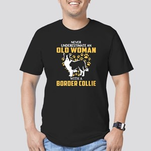 Old Woman With A Border Collie T Shirt T-Shirt