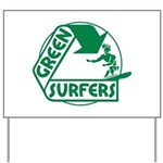 Green Surfers Yard Sign