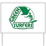 Green Surfers Yard Sign
