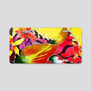 No. 005 Batik Art Asia Mast Aluminum License Plate
