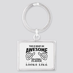 This is what an awesome Volleyb Landscape Keychain
