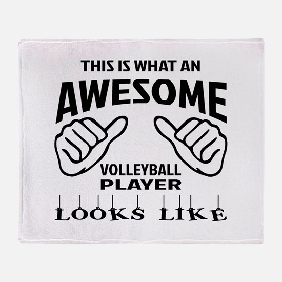 This is what an awesome Volleyball p Throw Blanket