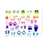 Rainbow Animal Tracks Postcards (Package of 8)
