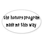 Honors Program Oval Sticker