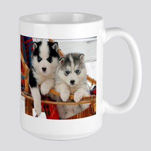 Two Husky puppies Mugs