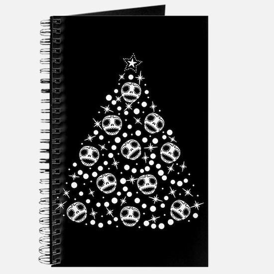 Cute Skull Christmas Tree Journal