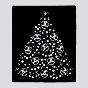 Cute Skull Christmas Tree Throw Blanket
