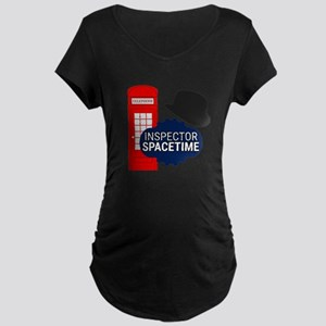 Inspector Spacetime Maternity T-Shirt