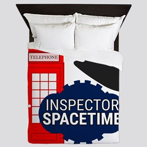 Inspector Spacetime Queen Duvet