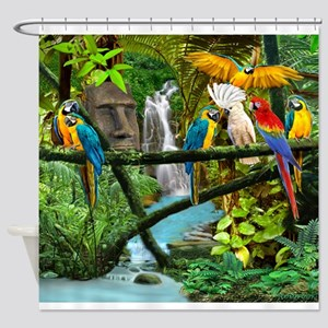 Parrots Of The Hidden Jungle Shower Curtain