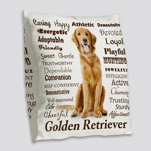 Golden Traits Burlap Throw Pillow