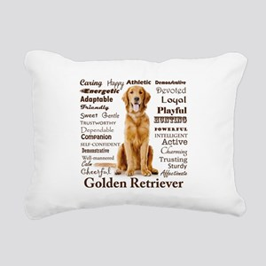 Golden Traits Rectangular Canvas Pillow