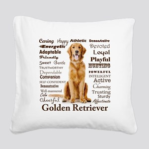 Golden Traits Square Canvas Pillow
