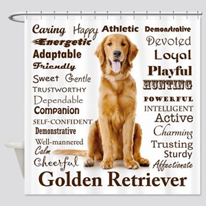 Golden Traits Shower Curtain