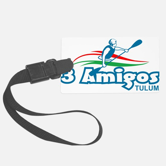 3 Amigos Tulum light colors Luggage Tag