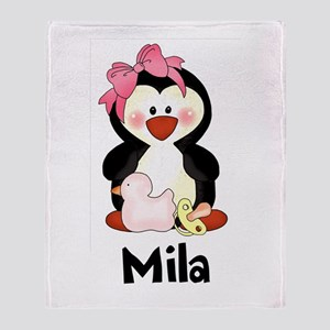 Mila's Penguin Throw Blanket