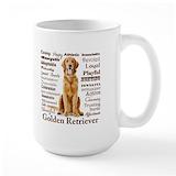 Golden retriever Large Mugs (15 oz)
