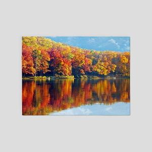 Autumn at the Lake 5'x7'Area Rug