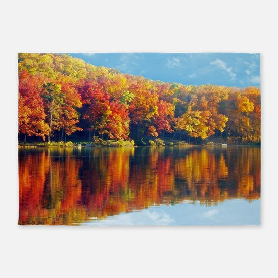 Autumn at the Lake 5'x7'Area Rug