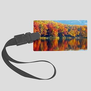 Autumn at the Lake Luggage Tag