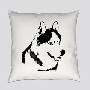 Siberian Husky Malamute Sled Dog Everyday Pillow