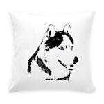 Siberian Husky Malamute Sled Dog Everyday Pillow