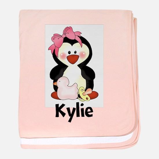 Kylie's Penguin baby blanket