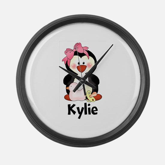Kylie's Penguin Large Wall Clock