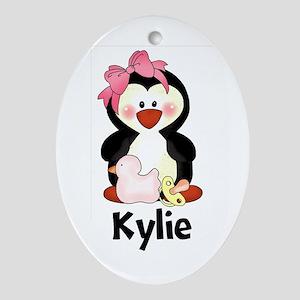 Kylie's Penguin Oval Ornament