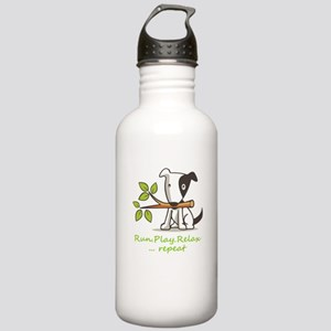 Run,play,relax,..repea Stainless Water Bottle 1.0L