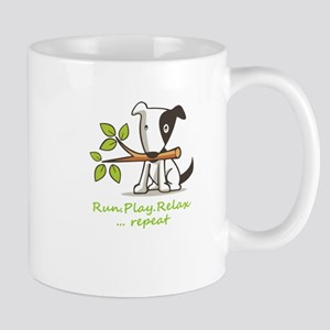 Run,play,relax,..repeat Mugs