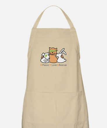 peace love rescue Apron