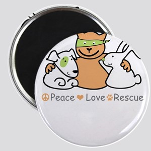 peace love rescue Magnets