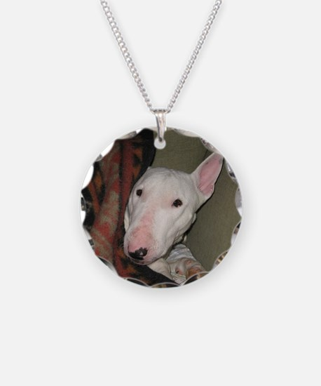 Unique Bull terrier Necklace Circle Charm