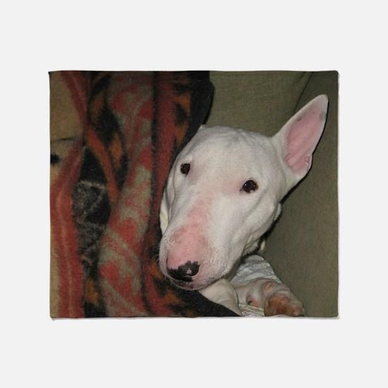 Cute Bull terrier Throw Blanket
