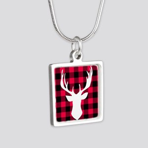 Buffalo Plaid Deer Necklaces