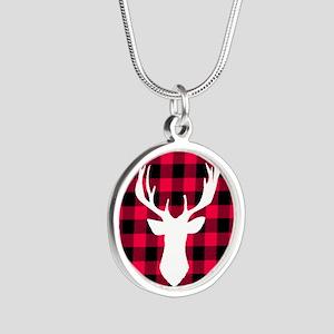 Buffalo Plaid Deer Necklaces