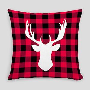 Buffalo Plaid Deer Everyday Pillow