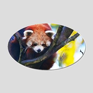 Red Panda Perched Wall Sticker
