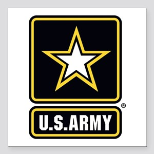 U.S. Army: U.S. Army Star Logo Square Car Magnet 3