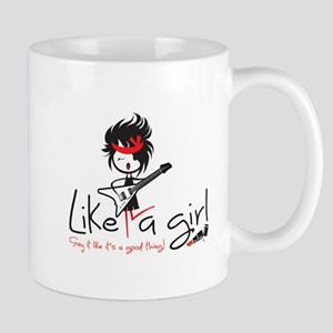 Rock Like a Girl! Mugs