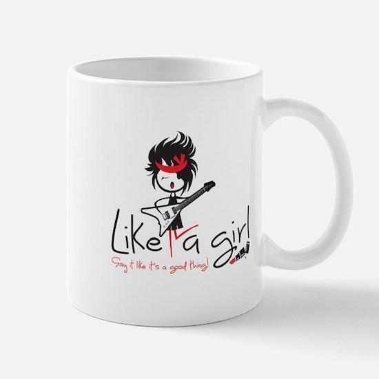 Rock Like a Girl! Mugs