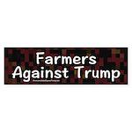 Farmers Against Trump Bumper Sticker