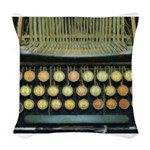 typewritermouse Woven Throw Pillow
