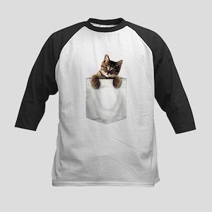 Cat in a Pocket Baseball Jersey