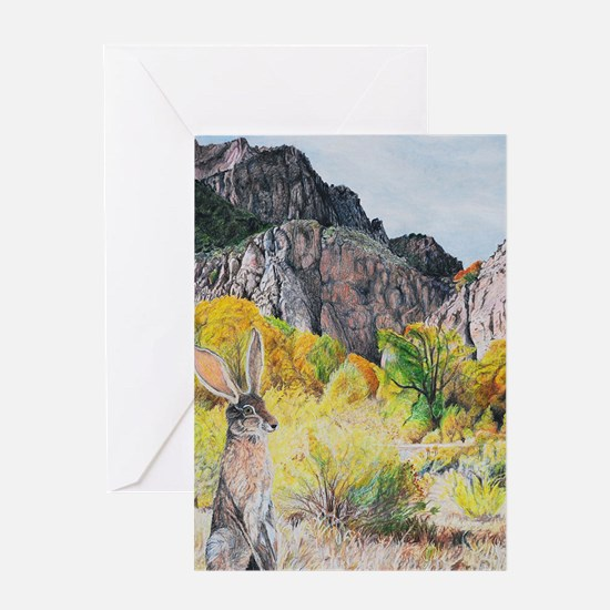 wild hare in Clear Creek Canyon.jpg Greeting Cards