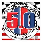 tribal 50 Square Car Magnet 3