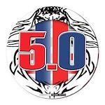 tribal 50 Round Car Magnet