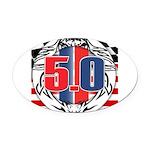 tribal 50 Oval Car Magnet